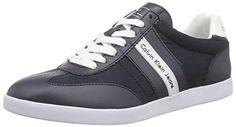 Calvin Klein Jeans ACE HEAVY NYLON/SMOOTH, Herren Sneakers, Blau (NVY), 44 EU - http://uhr.haus/calvin-klein-jeans/calvin-klein-jeans-ace-heavy-nylon-smooth-herren