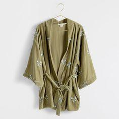 Kimono Velours Brodé -  | Zara Home France