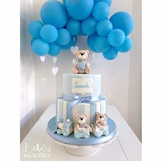 36 Trendy baby shower decorations for girls diy how to make Torta Baby Shower, Idee Baby Shower, Baby Shower Cakes For Boys, Baby Shower Backdrop, Baby Boy Cakes, Boy Baby Shower Themes, Baby Shower Balloons, Baby Shower Parties, Baby Boy Shower