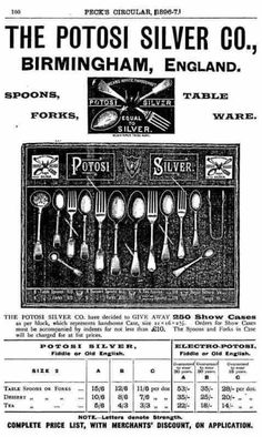 Potosi Silver Co: ancient advertisement