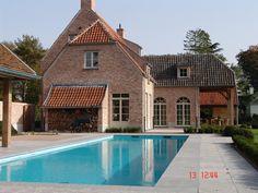 Realisaties - Architect luxe woningen - Architectenbureau Gruwez Oudenaarde - Gent Belgian Style, Dream Pools, Facade, Villa, New Homes, Backyard, Indoor, House Styles, Places
