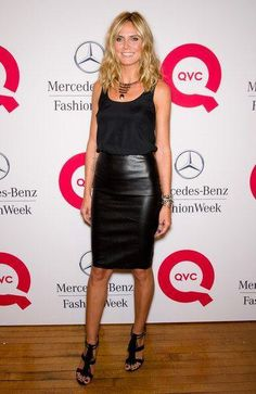 VipGuarantee - HEIDI KLUM IN LEATHER SKIRT