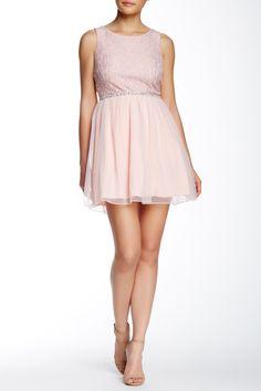 Sleeveless Lace Top Jewel Waist Tulle Skirt Dress by Speechless on @nordstrom_rack