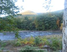 Beautiful views of the Catskill Mountains & Esopus Creek from the Emerson Spa and Resort in Mt. Tremper, NY.