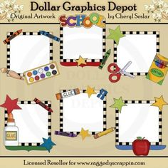 Picture Helpers - School Days - Clip Art Marco Digital, Student Incentives, School Supply Labels, Classroom Clipart, School Classroom, Classroom Ideas, Arts And Crafts Projects, Paint Set, Teacher Appreciation Gifts