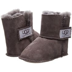 UGG Kids Erin (Infant/Toddler) (200 BRL) ❤ liked on Polyvore featuring charcoal and slippers