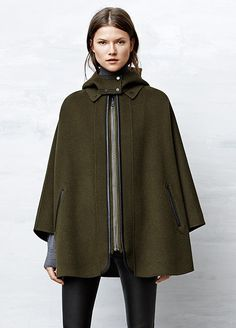Battle the elements in outerwear capes from Vince.