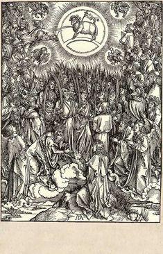 14. The adoration of the lamb / Dürer, Albrecht / The Apocalypse [series] #14 of 16
