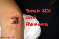 how to make a SFX makeup Scab#2 And Remove