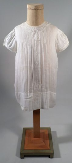 Lovely Antique Handmade Imported Girls Slip Dress, Finely Embroidered White Work