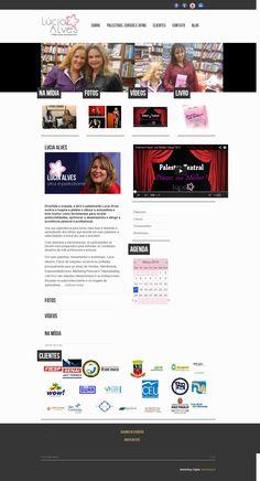 Site para Lucia Alves: Atriz, palestrante e consultora.