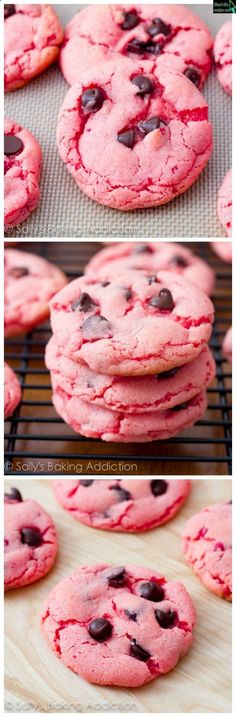 Interesting - Strawberry Chocolate Chip Cookies