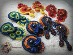 Little Petty Things Collection - Soutache Embroidery Design - Earrings