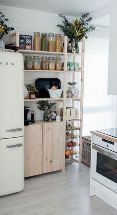 Kitchen organization ideas shelving glass jars 44 Ideas