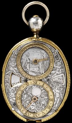 Restored Engraved Silver and Gilt Brass Watch ca. 1620-30, made in Blois, France