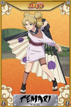 Pre Time-Skip Temari is a genin-level kunoichi of the Hidden Sand Village and one of the three Sand Siblings. She is generally overbearing, if not blunt, toward those around her and is rarely afrai...