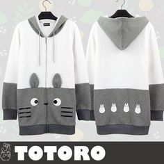 Kawaii Totoro Fleece Hoodie Coat CP168358