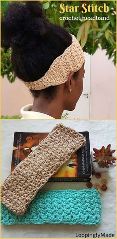Hook up this crochet Star stitch headband. Free pattern in Teen and Adult sizes. Try it!
