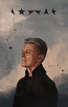 David Bowie Illustrations by Helen Green David Bowie (January 1947 – January – tribute illustrations by Helen Green. This is sad news today! On January David Bowie dies aged David Bowie Tribute, David Bowie Art, David Bowie Tattoo, Ziggy Stardust, David Jones, Gif Animé, Animated Gif, The Munsters, Bowie Blackstar