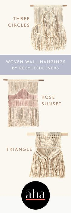 Simplistic #wallhangings that transform your living space. Made by recycledlovers in San Diego, CA