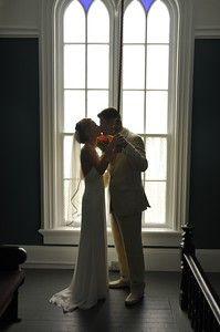 Ringing the Bell as Newly Pronounced Mr. & Mrs.! #RealWeddings #PortGambleWeddings #StPaulsChurch #PaulDudleyPhotography