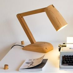 Editor - reclaimed wood lamp by Milkshed
