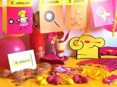 CAJA TEMÁTICA COCINILLAS - Todo lo que necesitas para la decoración de tu fiesta infantil o cumpleaños temático: guirnaldas, globos, caretas, medallas, vasos personalizados, pajitas, manteles, … y mucho más. ¡¡Celebra tu cumpleaños infantil personalizado más original y divertido!! $40.80
