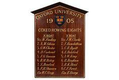 HOME DECOR – VINTAGE ATHLETIC – Oxford rowing plaque.