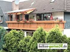 Balcony, Cabin, House Styles, Home Decor, Types Of Wood, Hairstyle, Products, Homes, Decoration Home