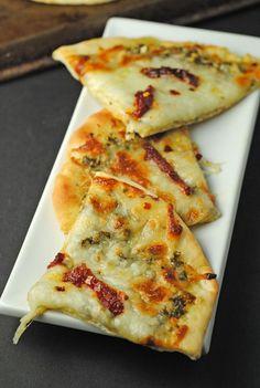 Grilled Pesto, Mozzarella, & Sundried Tomato Flatbread