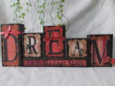 Dream wood block sign by ktuschel on Etsy