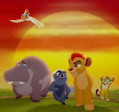 The Lion Guard: Kion, Bunga, Beshte, Ono & Fuli