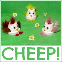 CHEEP! cute little pots turned into little chicks....