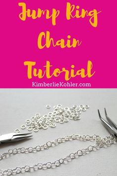 Learn how to make a super simple jump ring chain! Necklace Tutorial, Diy Necklace, Diy Jewelry, Jewelry Making, How To Make Necklaces, Everyday Objects, Wire Wrapped Jewelry, Wire Wrapping, Craft Projects