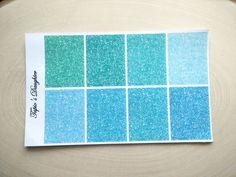 Erin Condren header stickers glitter blue for by TapiosDaughter