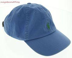 RALPH LAUREN POLO OUTLET PRICE HAT CLASSIC CHINO SPORT CAP BLUE MIST OS #RALPHLAUREN