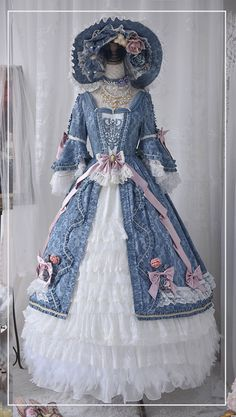 Old Fashion Dresses, Old Dresses, Vintage Dresses, Fashion Outfits, Pretty Outfits, Pretty Dresses, Beautiful Dresses, Kawaii Dress, Kawaii Clothes