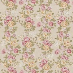 D027 - Bouquet Romantico Fundo Creme - Estampa Digital - Tecidos Fabricart