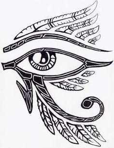 Resultado de imagem para tattoo olho de horus masculino 3d