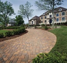 View our gallery of paver driveways, entryways & beautiful landscaping! Why a paver driveway? Paver repairs are fast & easy. Call for a FREE design, consultation & estimate! Belgard Pavers, Concrete Pavers, Driveway Design, Patio Design, Driveway Pavers, Outdoor Paving, Paving Ideas, Paver Stones, Driveways