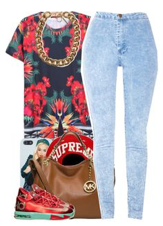 """""""july 24 2k14"""" by xo-beauty ❤ liked on Polyvore featuring INDIE HAIR, MICHAEL Michael Kors, Forever 21 and NIKE"""