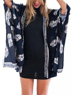 ONlY $11.26   Plus Size Women Floral Print Kimono Hippie Cardigan|Cardigan|Cardigan outfit|Cardigan outfit fall |Cardigan pattern|