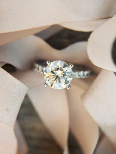 Round-cut diamond ring: http://www.stylemepretty.com/2016/11/23/signs-hell-propose-this-holiday-season/ Photography: Rylee Hitchner - http://www.ryleehitchner.com/