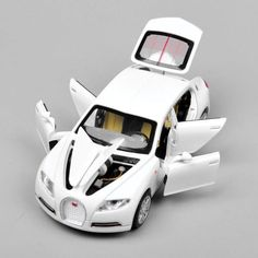 Car Model 1/32 Bugatti Veyron 16C Galibier w/light&sound Pull Back Cars Model Kids Toys Gifts E