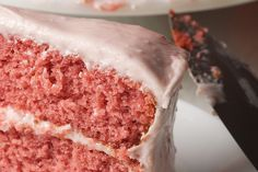 Strawberry Cake with Strawberry Cream Cheese Frosting.  Valentine's Day?