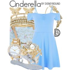 Cinderella by leslieakay on Polyvore featuring Bamboo, Harrods, Lipsy, BCBGeneration, Kate Spade, Kenneth Jay Lane and Disney