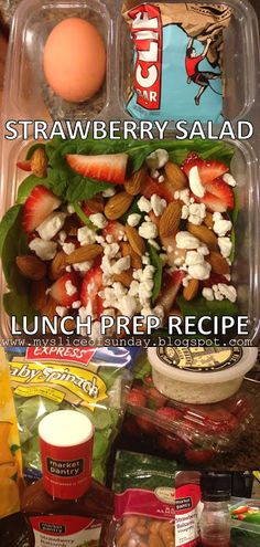 Strawberry Salad - Meal Prep for Lunch recipe