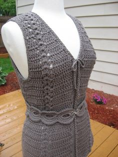 Meadows Vest with Matching Belt Crochet Pattern pdf Not Finished item This is absolutely one of my favorite patterns to date. Its so versatile it can be worn with almost anything at all : ) The stitch design used in this pattern makes for such a wonderful, light and airy look