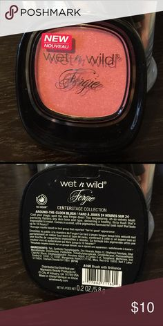 Wet n wild blush Wet n Wild Fergie centerstage collection around the clock blush. Color: brush with brilliance. Brand new, never opened wet n wild Makeup Blush