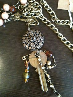 Key necklace made by Junk Drawer Gypsy